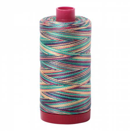 Mako Cotton Embroidery Thread 12wt 356yds Variegated