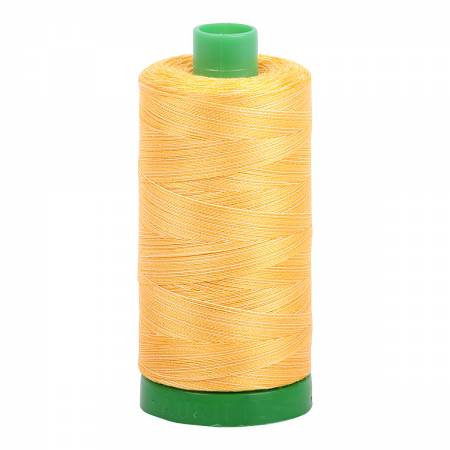 Aurifil Cotton Mako 40wt  Thread 1094yds Variegated - Golden Glow #3920