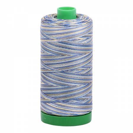 Aurifil Cotton Mako 40 wt Thread 1094yds Variegated - Lemon Blueberry #4649