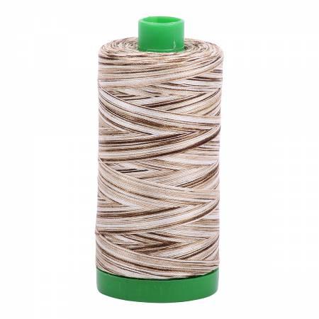 Aurifil Mako Cotton Thread 40wt 1094yds - Nutty Nougat Variegated 4667