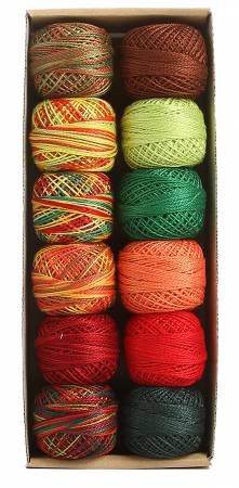 Valdani Pearl Cotton Ball Sz8 73yd 12 Colors Accents 1 Joy to the World
