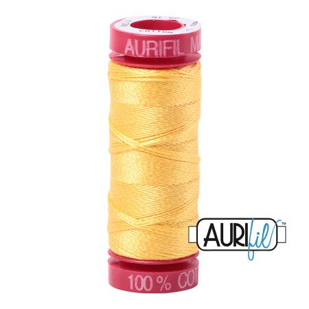 Aurifil Mako Cotton Embroidery Thread 12wt 54yds  Pale Yellow