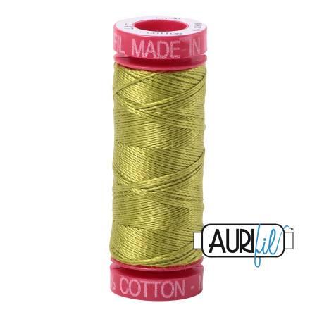 Aurifil Mako Cotton Thread 12wt 54yds - Light Leaf Green 1147