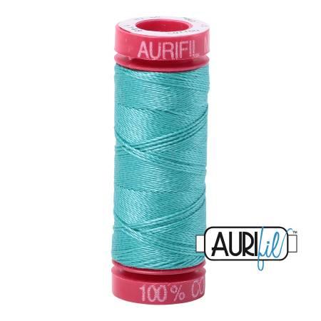 Aurifil 1148 Mako Cotton Embroidery Thread 12wt 54yds  Light Jade