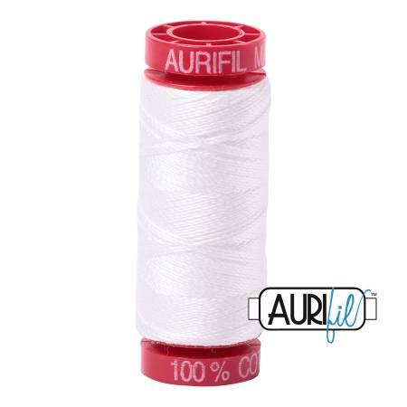 Aurifil Mako Cotton Thread 12wt 54yds  Natural White