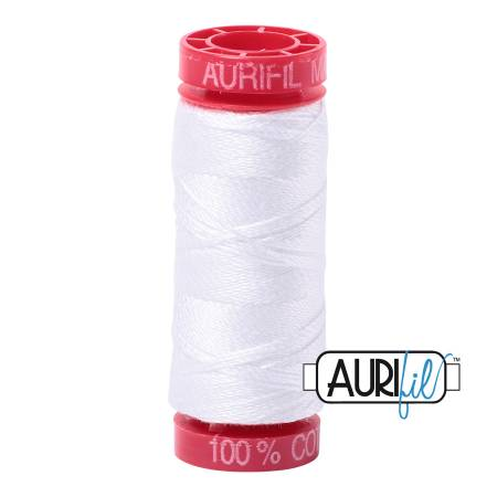 Aurifil Mako Cotton Thread 12wt 54yds - White 2024