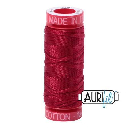 Aurifil Mako Cotton Thread 12wt 54yds - Red Wine 2260
