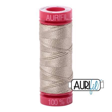 Aurifil Mako Cotton Embroidery Thread 12wt 54yds  Stone