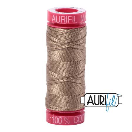 Aurifil Mako Cotton Thread 12wt 54yds - Sandstone 2370