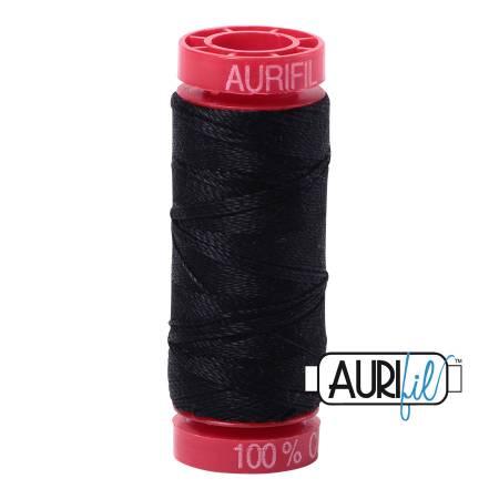 Aurifil Mako Cotton Thread 12wt 54yds - Black 2692