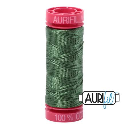Aurifil Mako Cotton Thread 12wt 54yds - Very Dark Grass Green 2890