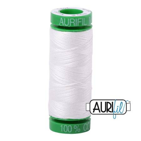Mako Cotton Embroidery Thread 40wt 164yds Natural White