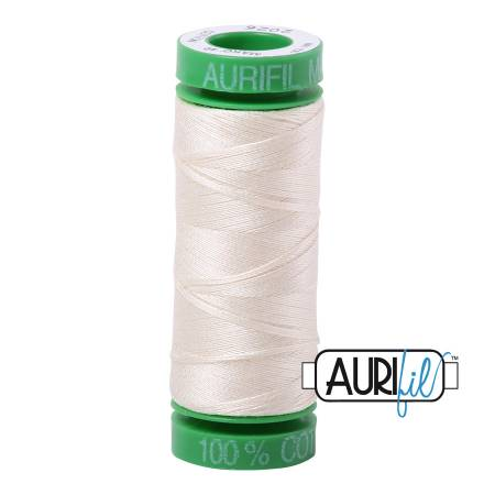 Mako Cotton Embroidery Thread Solid 40wt 164yds Chalk