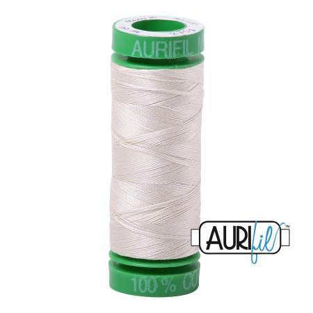 Mako Cotton Embroidery Thread Solid 40wt 164yds Silver White