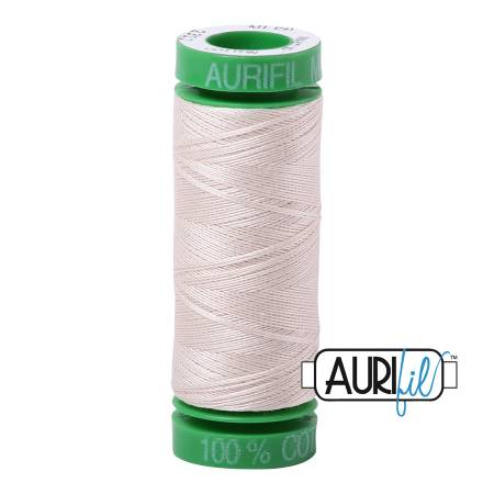 Mako Cotton Embroidery Thread Solid 40wt 164yds Muslin