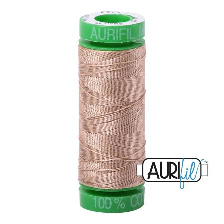Mako Cotton Embroidery Thread 40wt 164yds Beige
