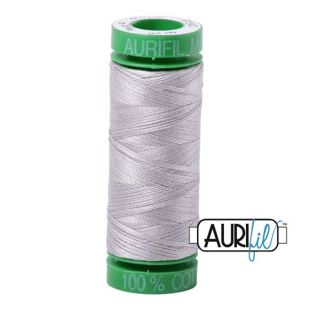 Mako Cotton Embroidery Thread Solid 40wt 164yds Aluminum