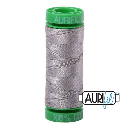 Mako Cotton Embroidery Thread Solid 40wt 164yds Stainless Steel