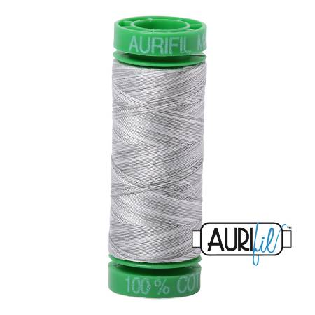 Mako Cotton Embroidery Thread 40wt 164yds  Silver Moon