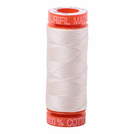 Aurifil Mako Cotton Embroidery Thread 50wt 220yds Light Sand