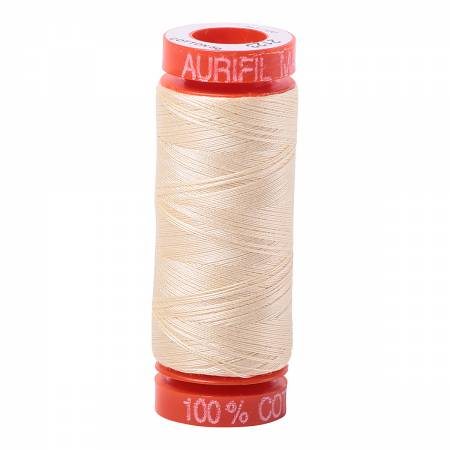 Mako Cotton Embroidery Thread 50wt 220yds Butter