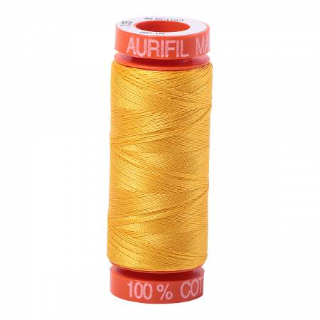 Mako Cotton Embroidery Thread 50wt 220yds Yellow