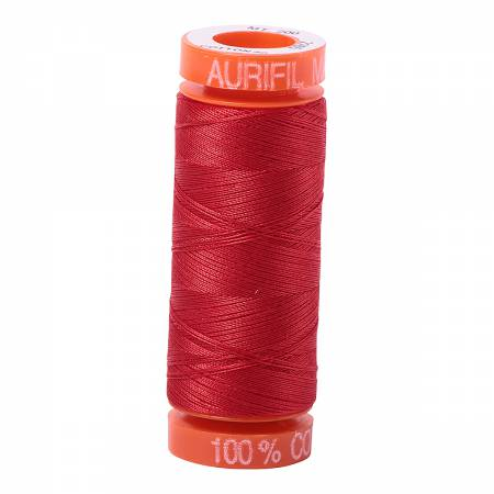 Aurifil Mako Cotton Thread 50wt 220yds - Lobster Red 2265