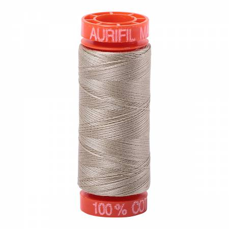 Mako Cotton Embroidery Thread 50wt 220yds Stone