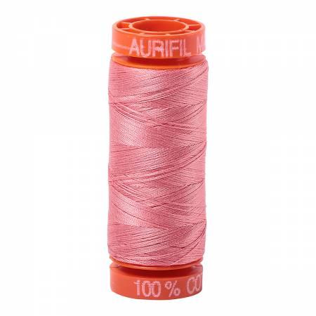 Aurifil Mako Cotton Thread 50wt 220yds - Peachy Pink 2435