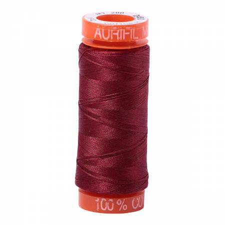 Aurifil Mako Cotton Thread Dark Carmine Red