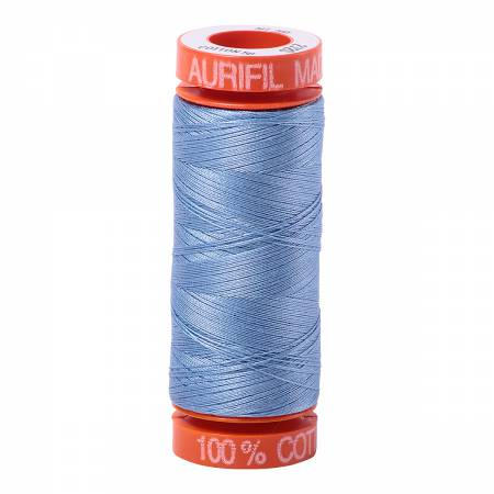 Aurifil Mako Cotton Thread 50wt 220yds - Light Delft Blue 2720