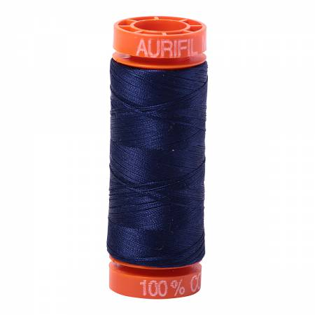 Mako Cotton Embroidery Thread 50wt 220yds Midnight