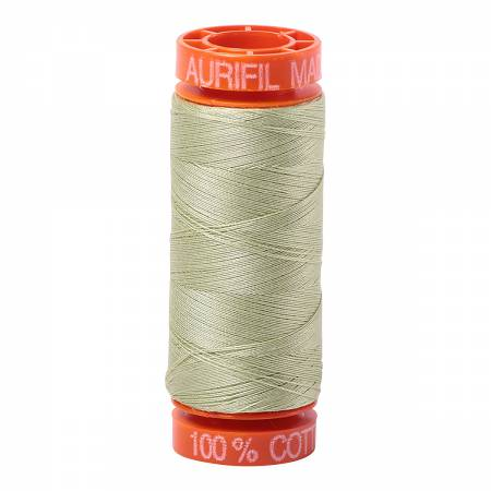 Mako Cotton Embroidery Thread 50wt 220yds Light Avocado