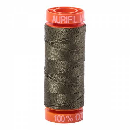 Aurifil Mako Cotton Thread Army Green