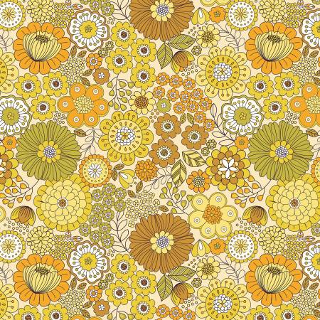 Flower Child Yellow Far Out Floral
