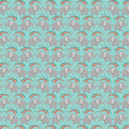 Lewis & Irene Rainbows - Elephants in Blue