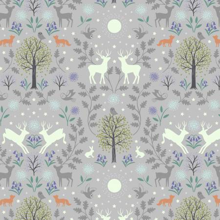 Mirrored Woodland-Gray-Glow In The Dark