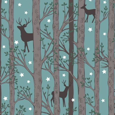 Forest Deer-Blue-Glow In The Dark