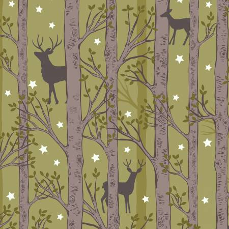 Forest Deer On Leaf Green-Glow In The Dark