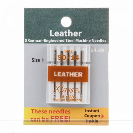 Klasse Carded Leather Machine Needle Size 14/90 5ct