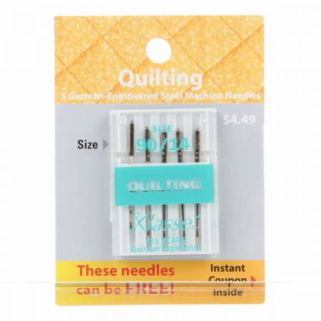 Klasse Carded Quilting Machine Needle Size 14/90 5ct
