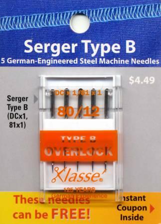 Klasse Crd Overlock/Serger Mach Ndl 81x1 Size 80/20 5ct