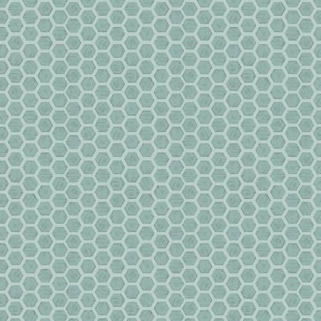 Queen Bee Honeycomb on Duck Egg Blue