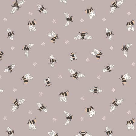 Queen Bee Bees on Dusty Plum