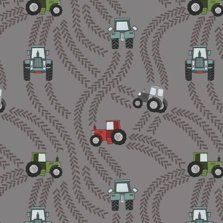Piggy Tales - Tractor trails on muddy grey