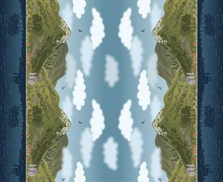 Loch Lewis double edge border Digital Panel