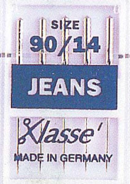 Klasse Denim/Jeans Machine Needle Assorted Sizes 14/90 & 16/100