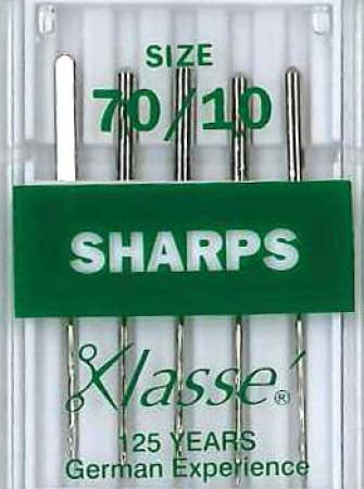 Klasse Sharp / Microtex Machine Needle Size 70/10