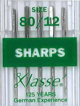 Klasse Sharp / Microtex Machine Needle Size 80/12