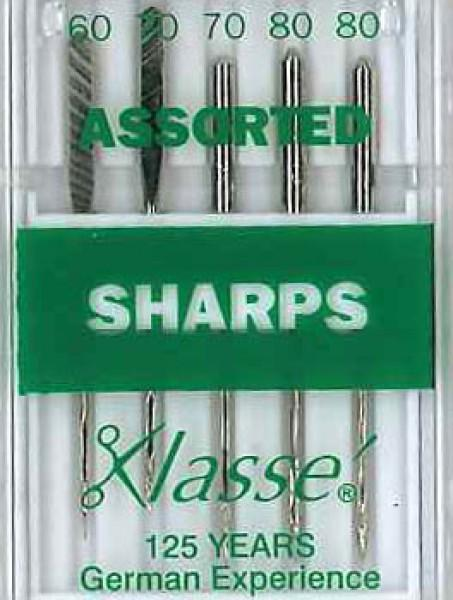 Klasse Sharp / Microtex Machine Needle Assorted Size 60/8, 70/10 & 80/12